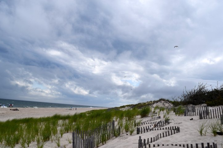 Storm Clouds on Flying Point Beach Hamptons by Kate Stoltz
