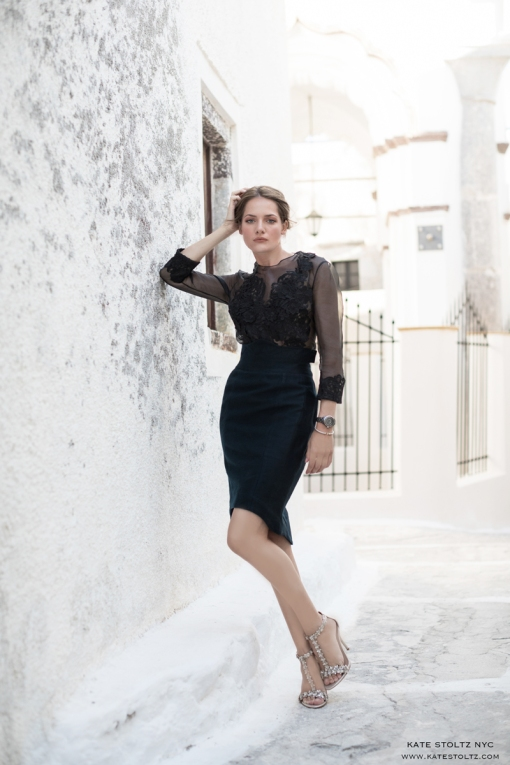 Kate Stoltz in Santorini Greece